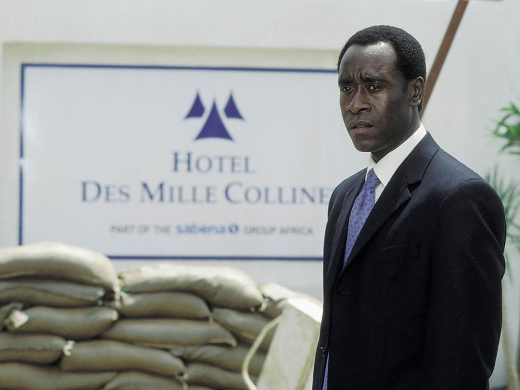 hotel rwanda essays Hotel rwanda, terry george's 2004 film about the rwandan genocide, is caught in a situation with other genocide films that leads to some viewers to object to it while others are strongly drawn to it and everything between these two extremes.