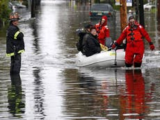 Possible levee break in New Jersey floods towns of Moonachie, Little Ferry and Carlstadt