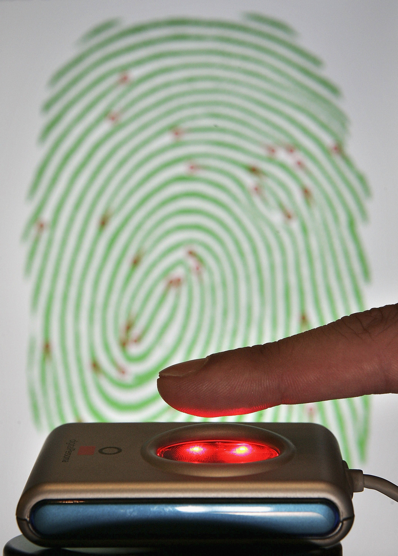 Сканер отпечатка пальца схема