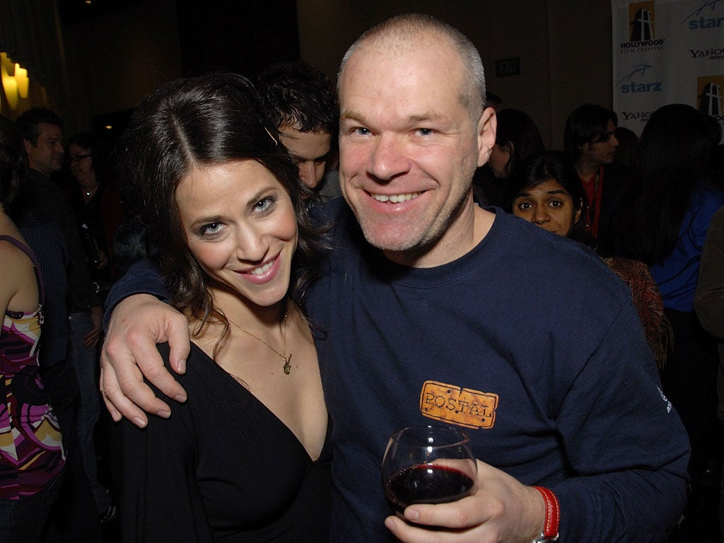 Uwe Boll with friendly, fun, Wife Natalie Tudge