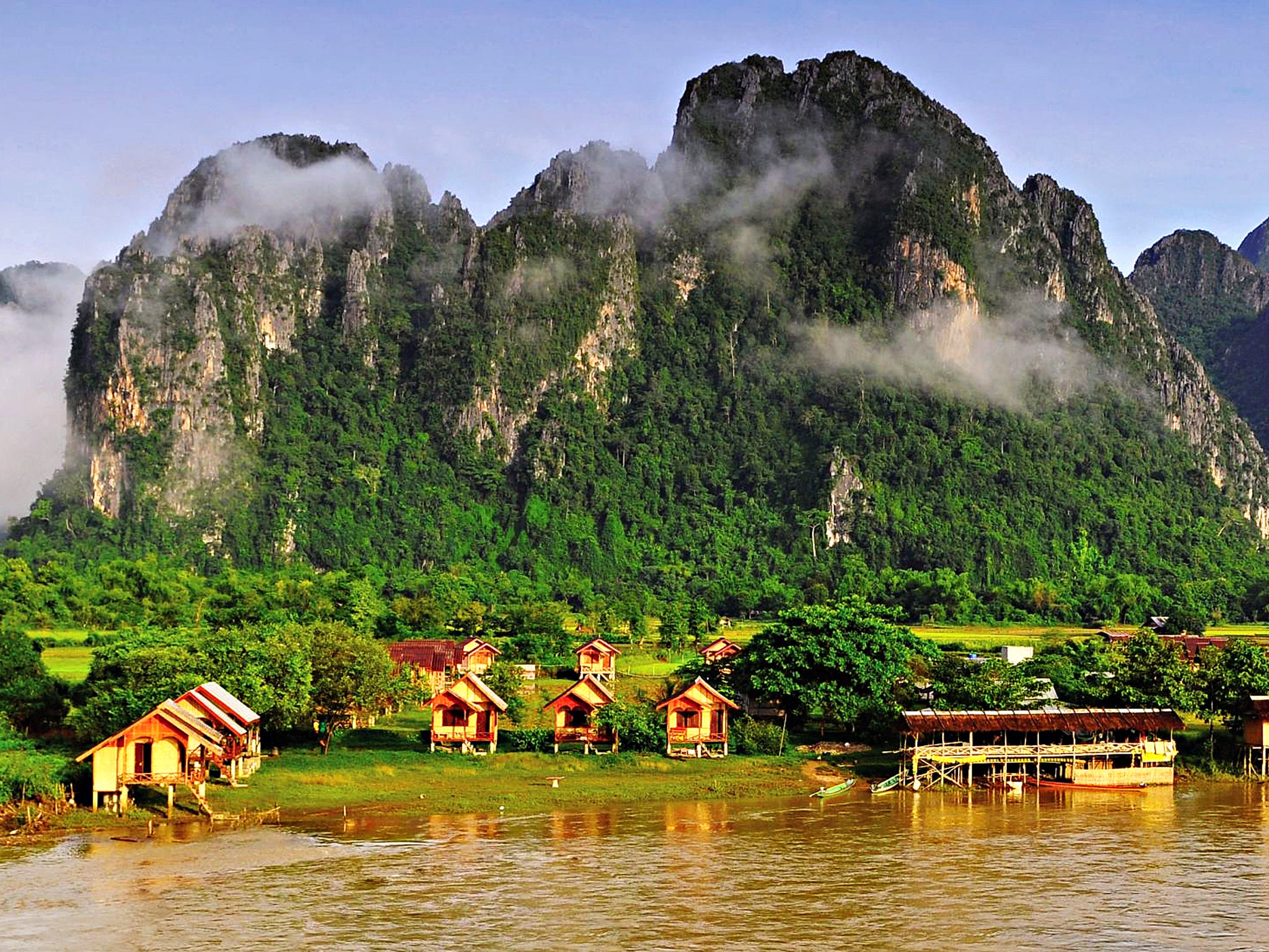 Asian region cambodia laos
