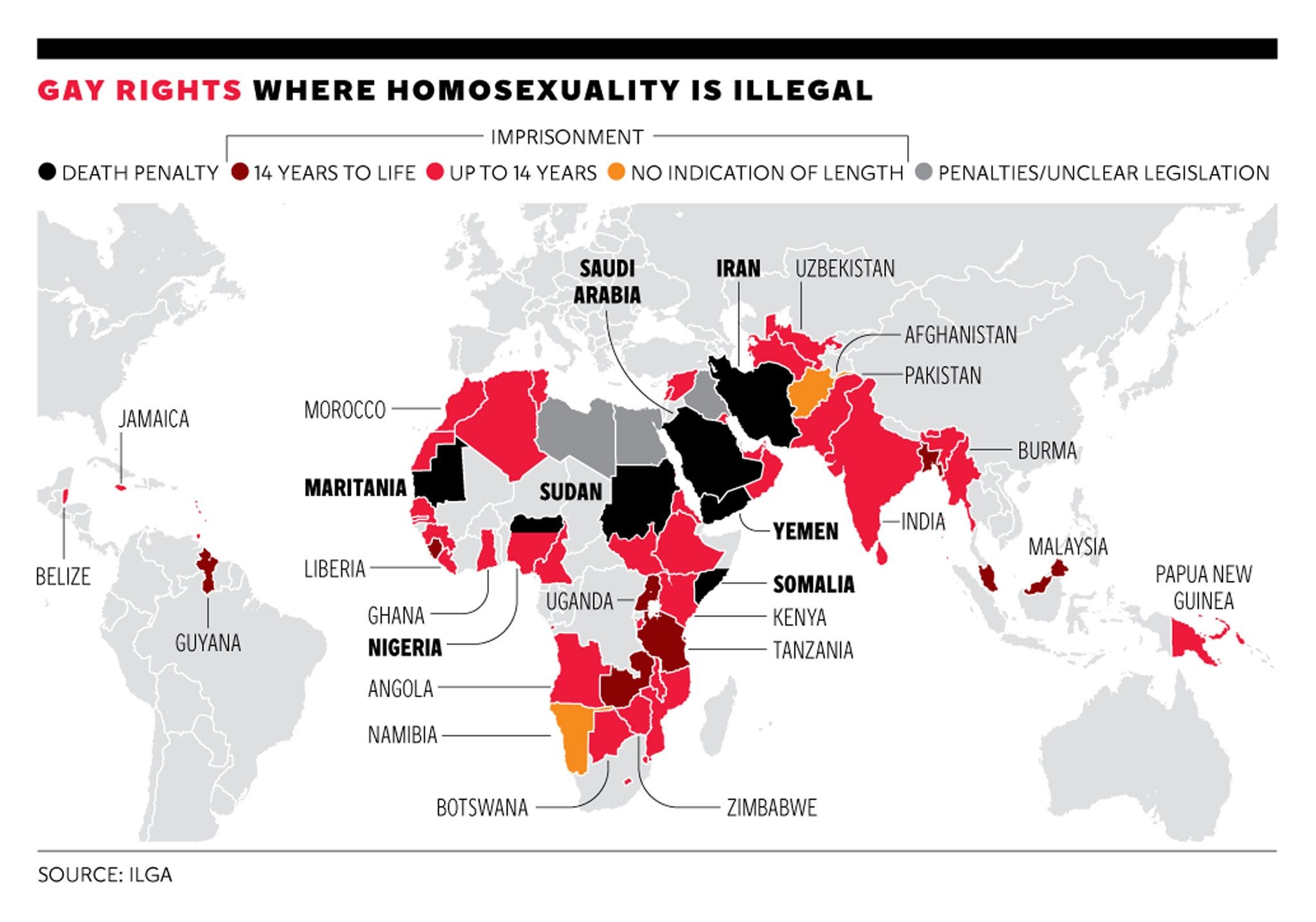 Where In The World Is The Worst Place To Be Gay World