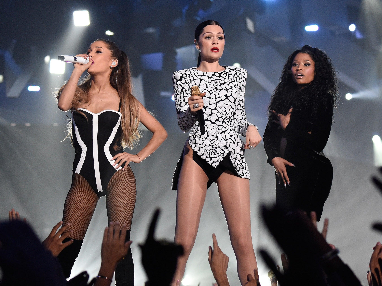 Nicki Minaj Ariana Grande And Jessie J Score UK Number