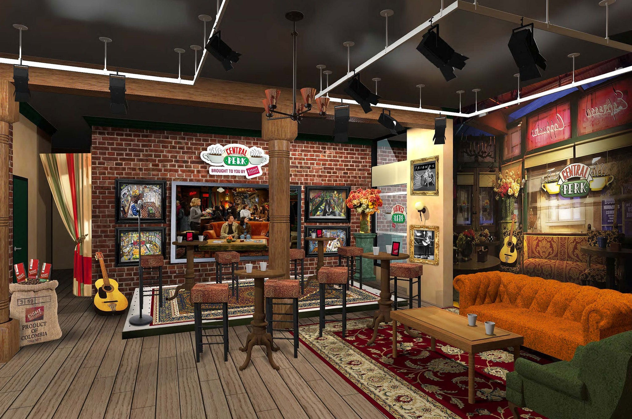 Friends Coffee Shop Central Perk To Open In New York Complete With Gunther And Orange Couch