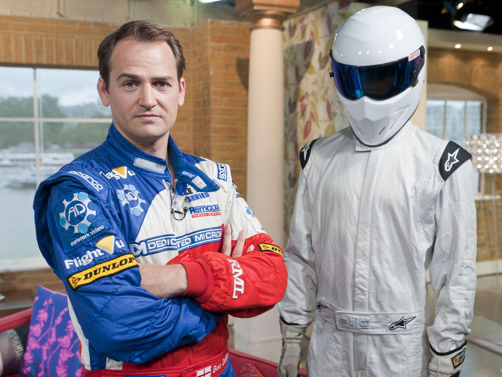 jeremy clarkson on top gear former stig ben collins says show 39 will always continue 39 with or. Black Bedroom Furniture Sets. Home Design Ideas