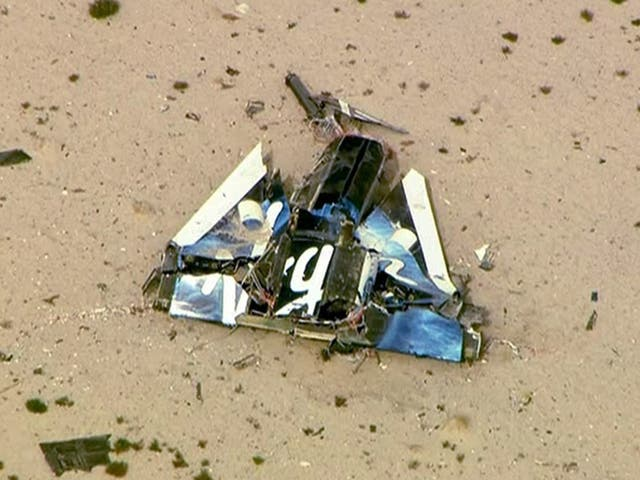 The suborbital passenger spaceship being developed by Richard Branson's Virgin Galactic crashed during a test flight on Friday at the Mojave Air and Space Port in California