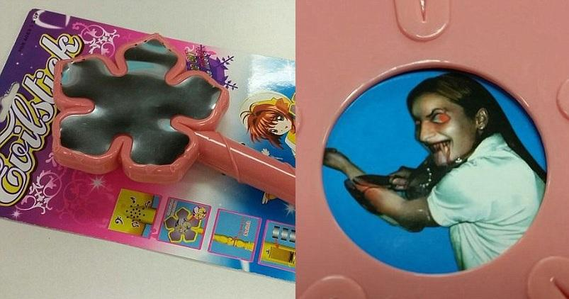 Dollar Store Toy Wand Has Hidden Picture Of Demonic Child