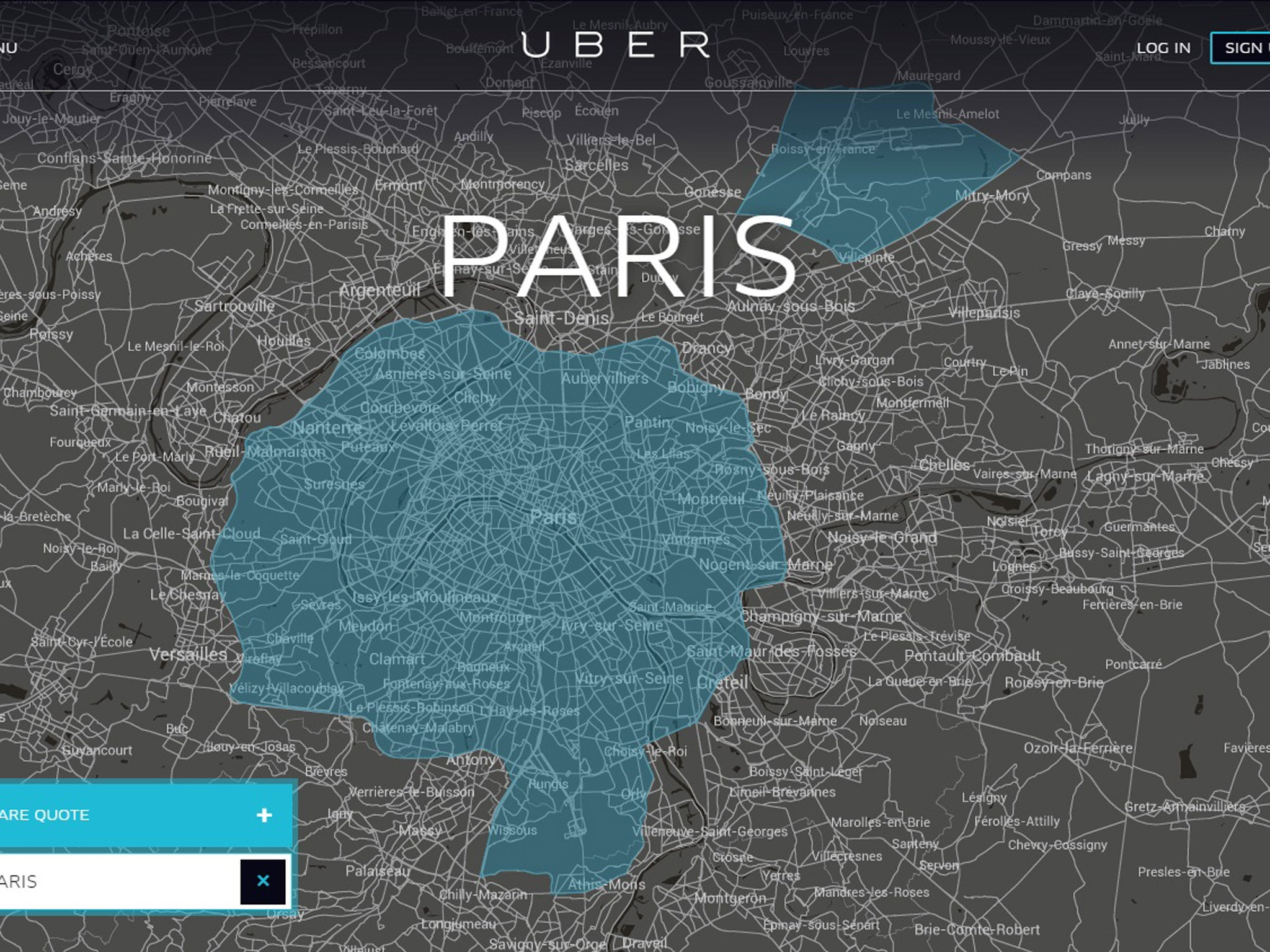 uber s cheap service to be banned in france as paris taxis block roads news lifestyle the. Black Bedroom Furniture Sets. Home Design Ideas