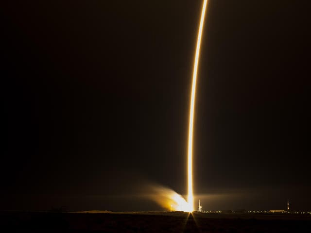 The Soyuz TMA-15M rocket launches from the Baikonur Cosmodrome in Kazakhstan on Monday, Nov. 24, 2014, carrying three new astronauts to the International Space Station. It also took caviar, ready for the satellite's inhabitants to celebrate the holidays
