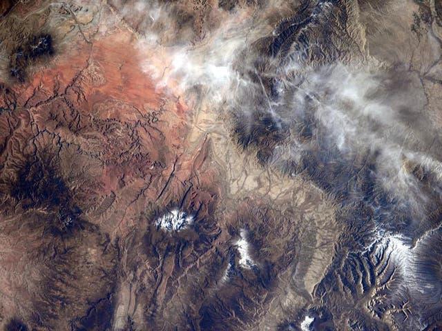 NASA astronaut Reid Wiseman shared this image of Yellowstone via his twitter account