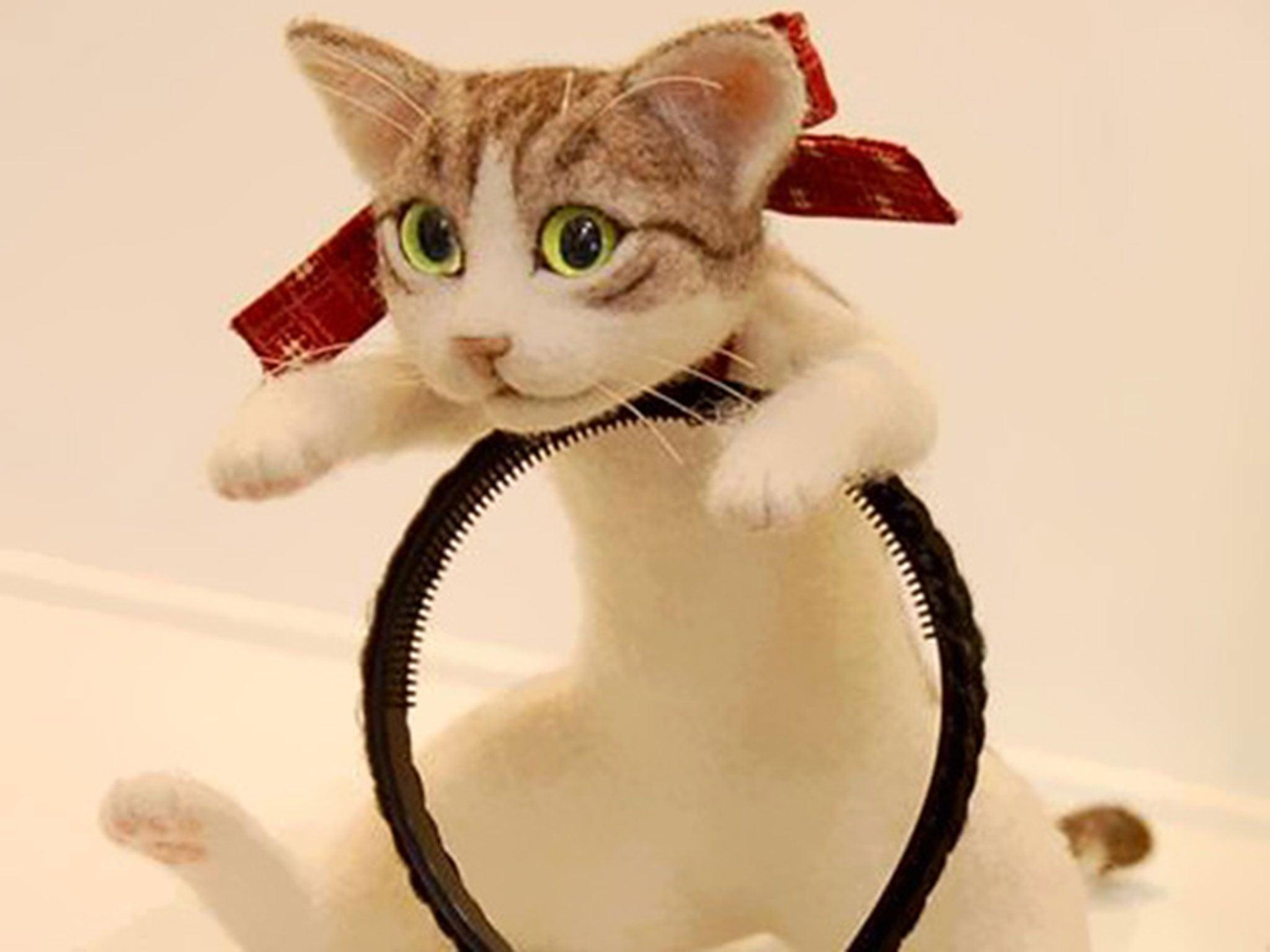 Как сделать кошка из ободок