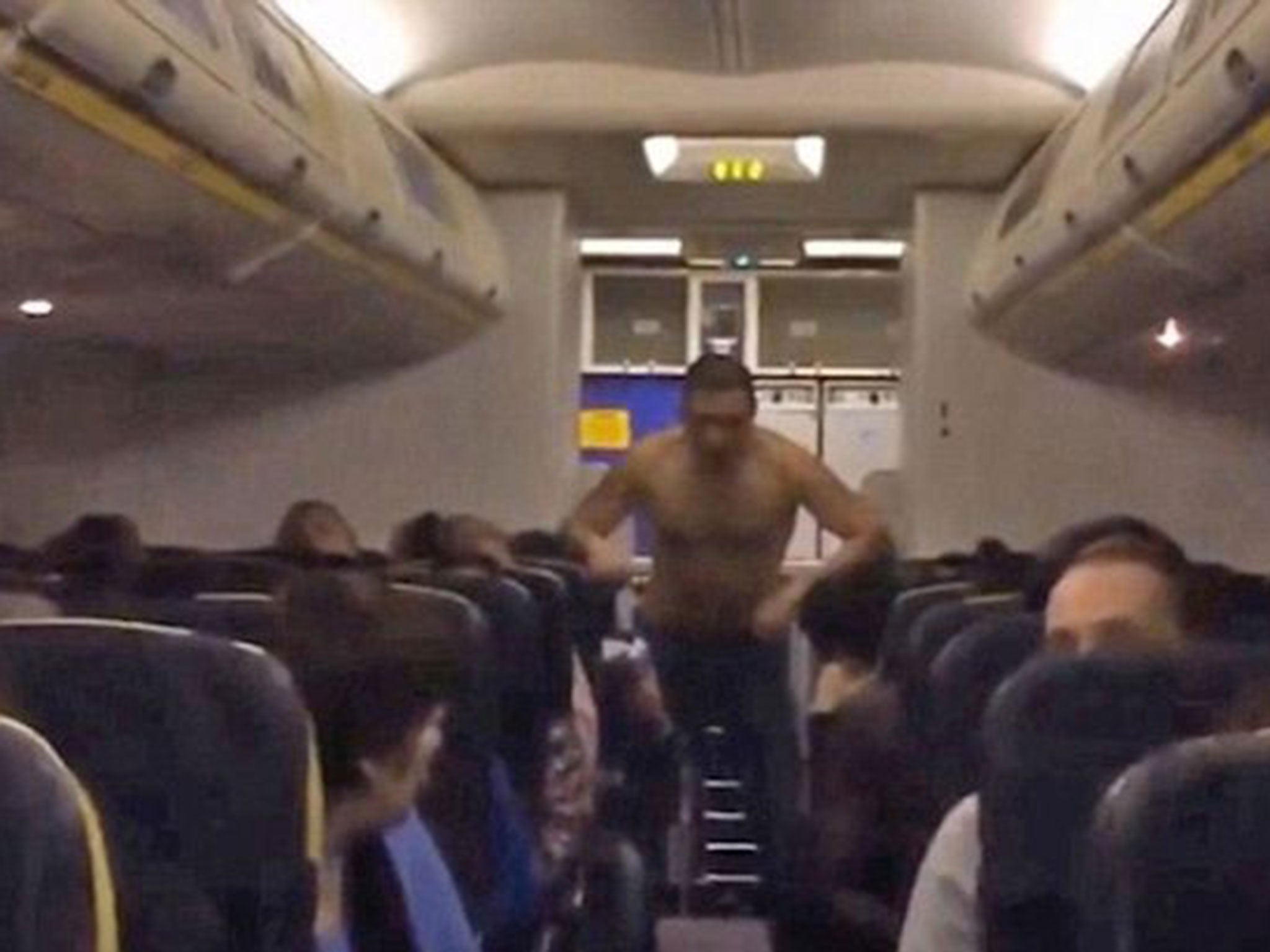 from Roman naked people on a plane