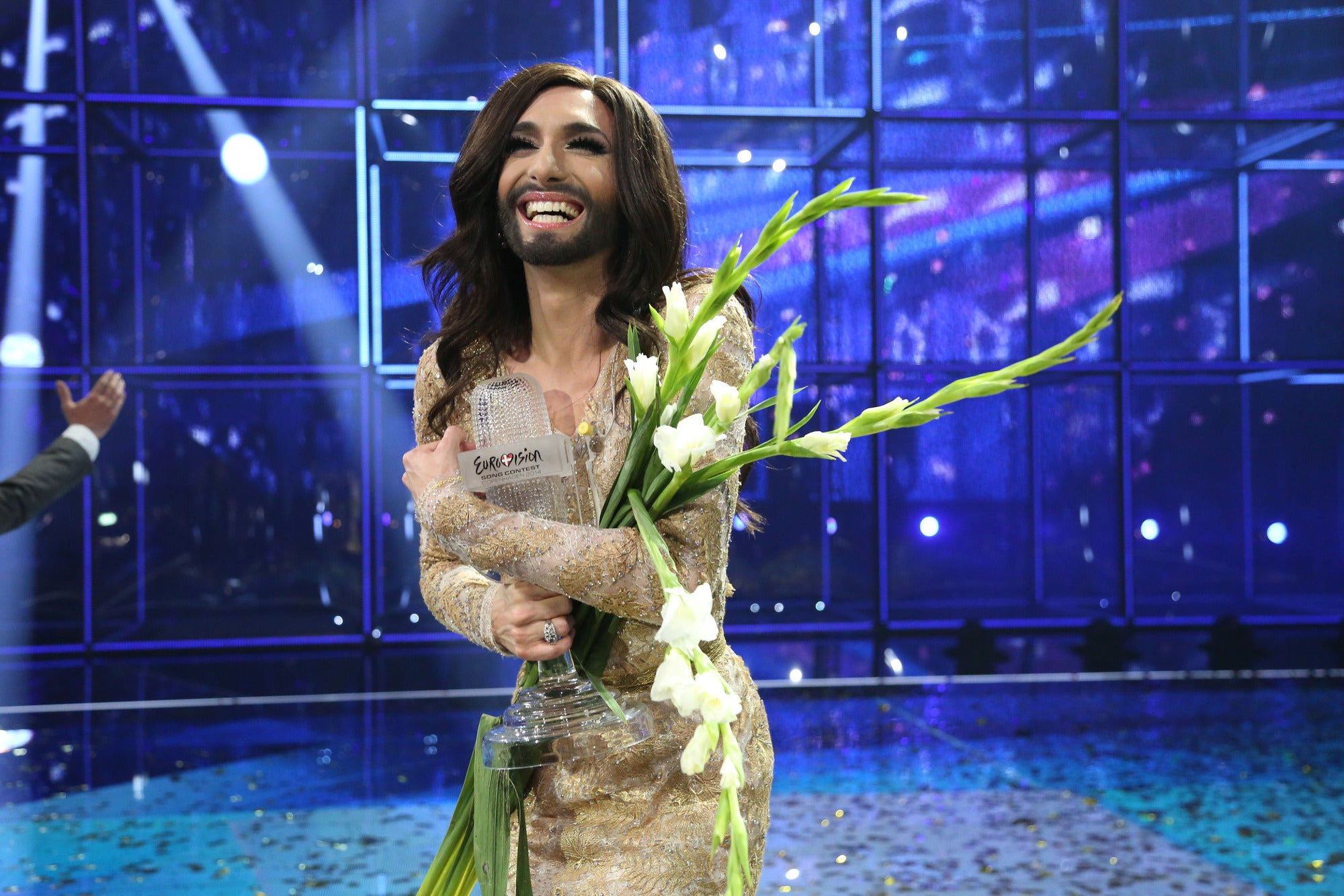 Conchita wurst and dana international in eurovision first star - Eurovision 2016 The Most Controversial Acts Of All Time From Dana International To Those Raunchy Polish Milkmaids