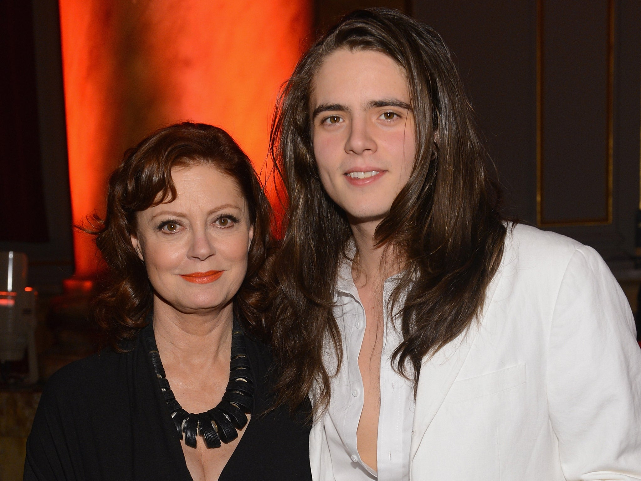 Photo of Susan Sarandon & her Son  Jack Henry Robbins
