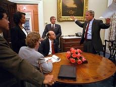 9/11 aniversário: Handwritten notes reveal how George W Bush reacted on September 11 2001