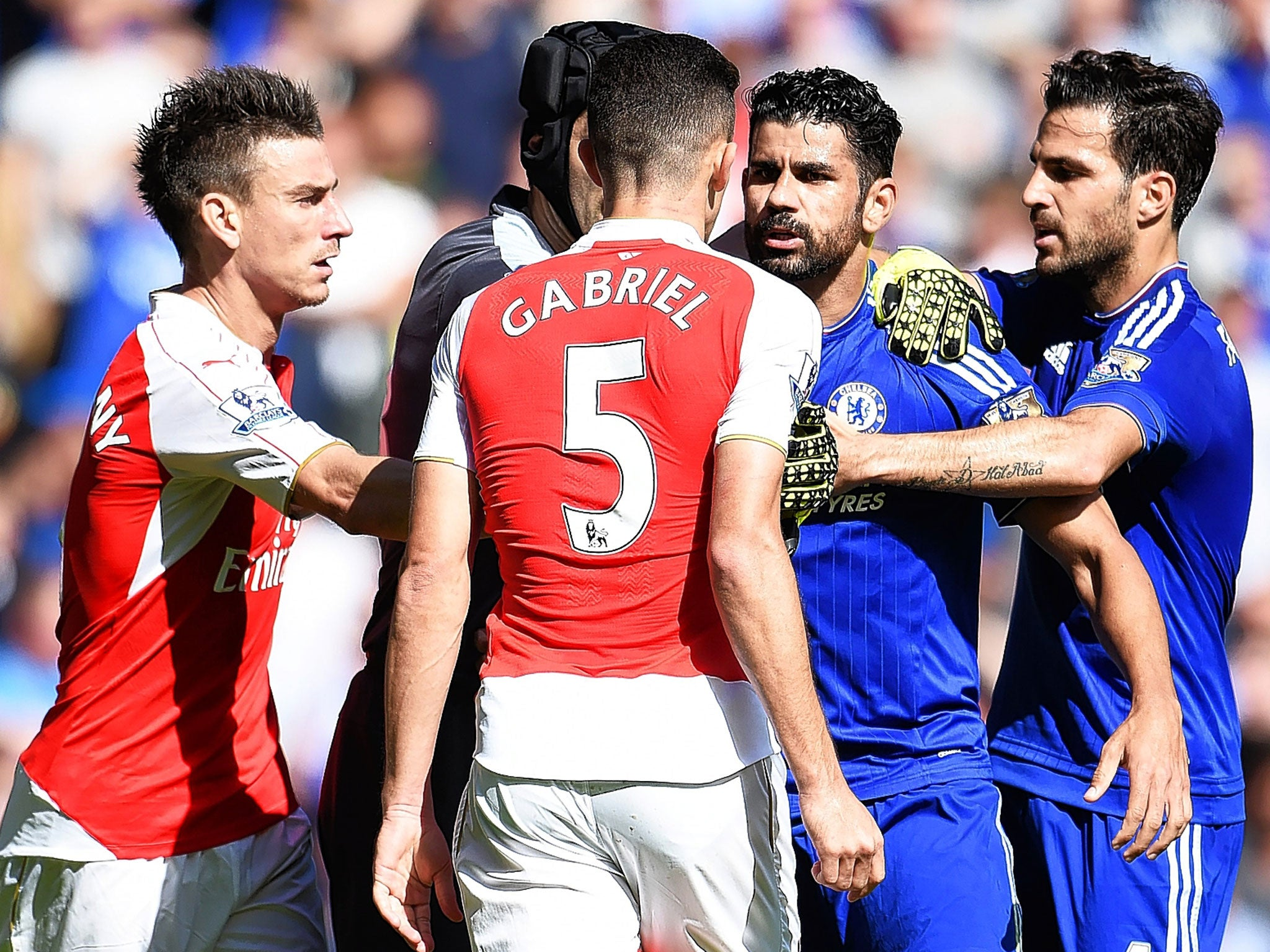 Arsenal vs Chelsea: Guus Hiddink claims he has not seen the Diego Costa-Laurent Koscielny-Gabriel Paulista fight
