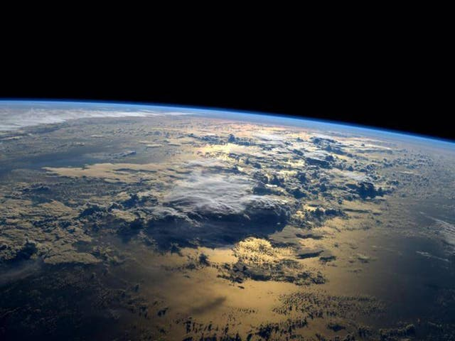 Nasa astronaut Reid Wiseman tweeted this photo from the International Space Station on 2 setembro 2014