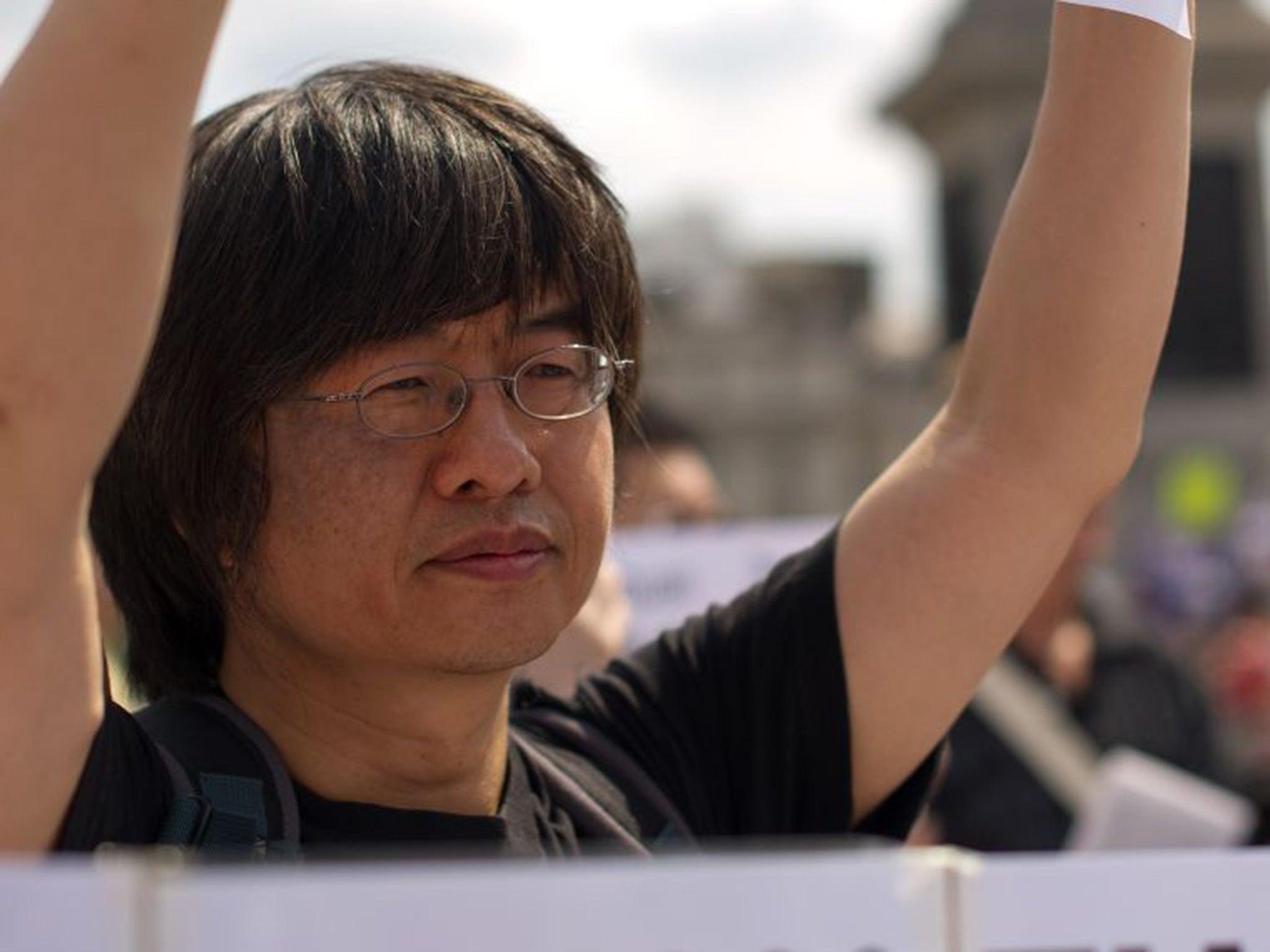 <b>Shao Jiang</b>: Protester says UK now as bad as China over human rights | UK ... - Shao-Jiang