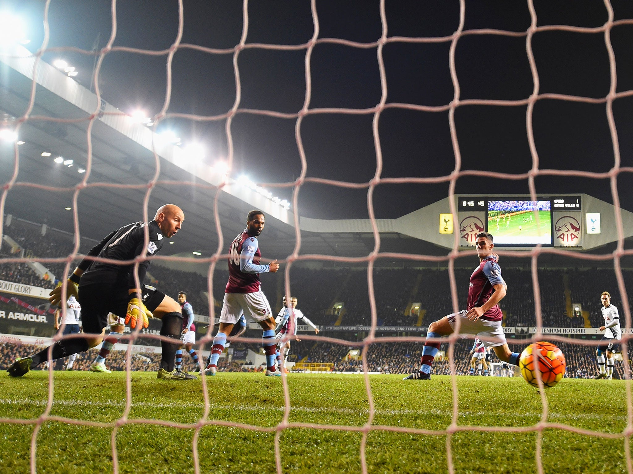 Tottenham vs Aston Villa match report: Spurs win despite spirited fight-back under the gaze of Remi Garde