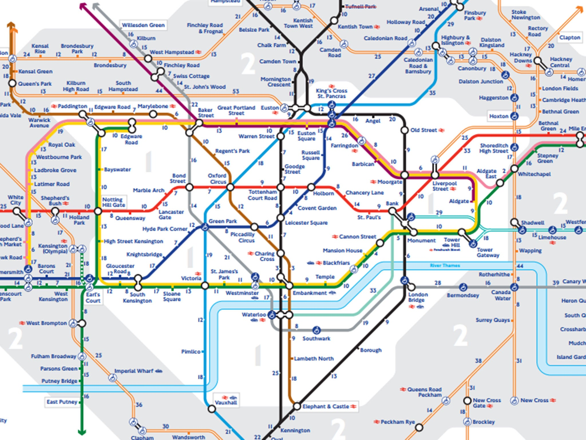 TfL Releases First Official walk The Tube Map For London
