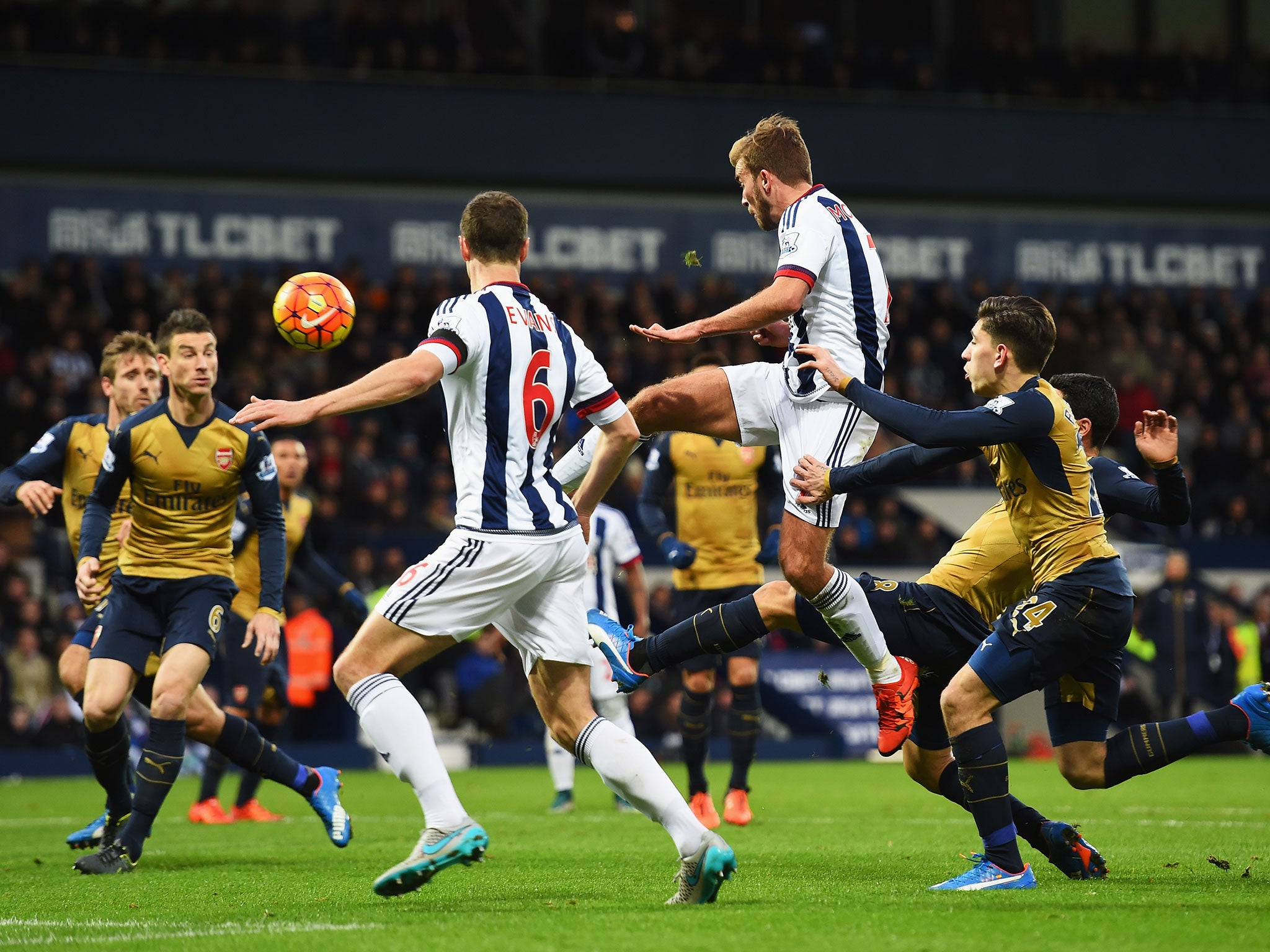 West Brom vs Arsenal match report: Santi Cazorla misses a penalty as Mikel Arteta own goal hands Baggies victory