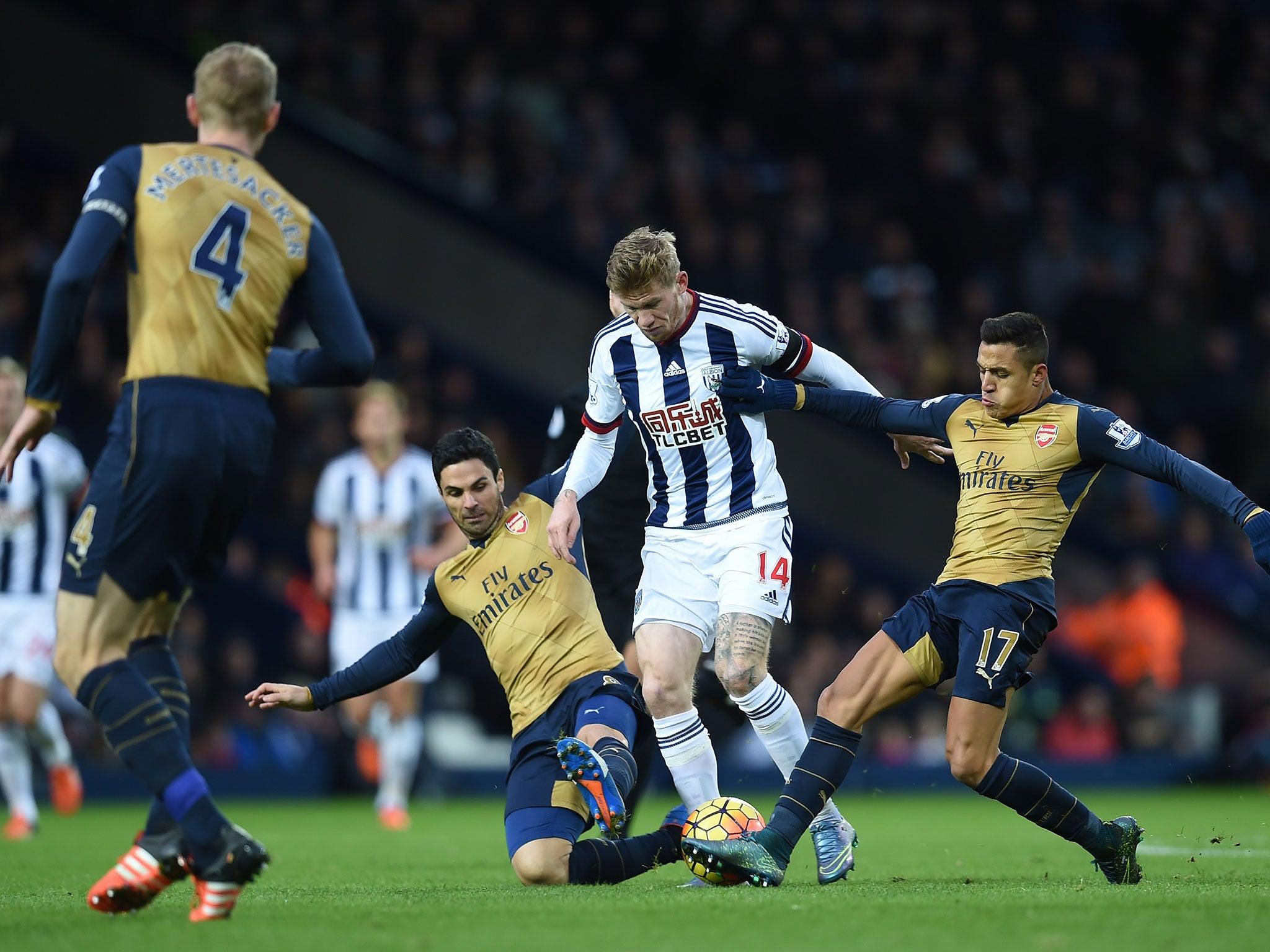 West Brom vs Arsenal player ratings: Mikel Arteta endures a horror show as James McClean stars for Baggies