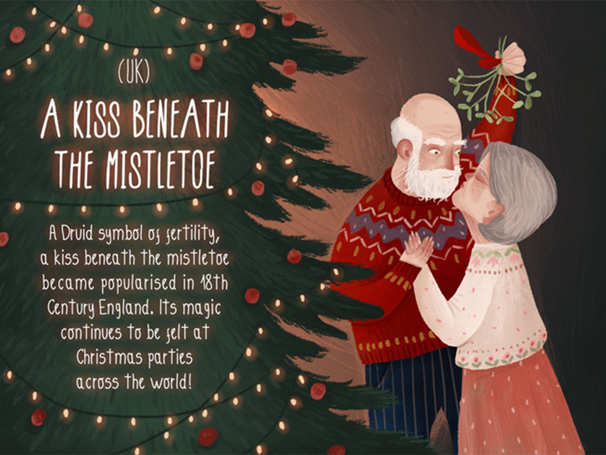Romantic Christmas traditions from around the world in 12 illustrations | Love & Sex | Lifestyle ...