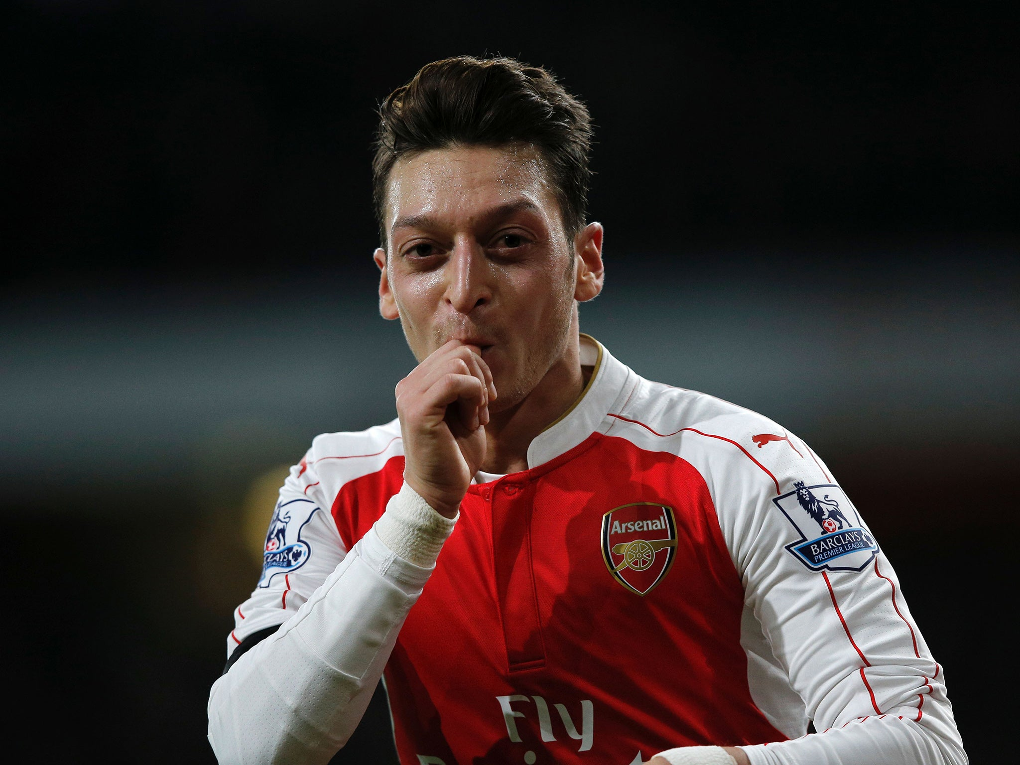 Mesut Ozil makes his 100th appearance for Arsenal in Chelsea clash