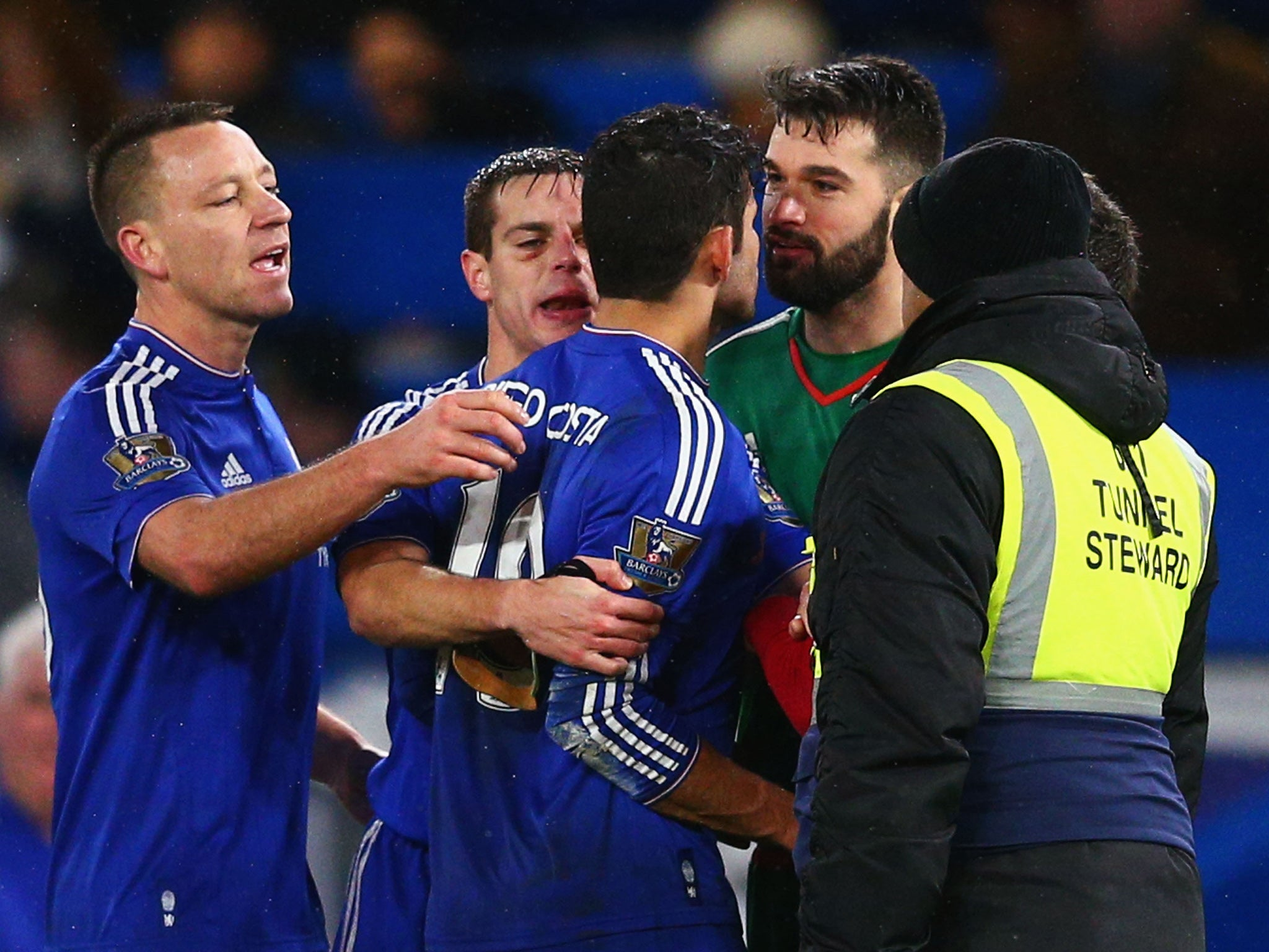 Chelsea vs West Brom match report: Diego Costa fury as his side fall to late James McClean leveller