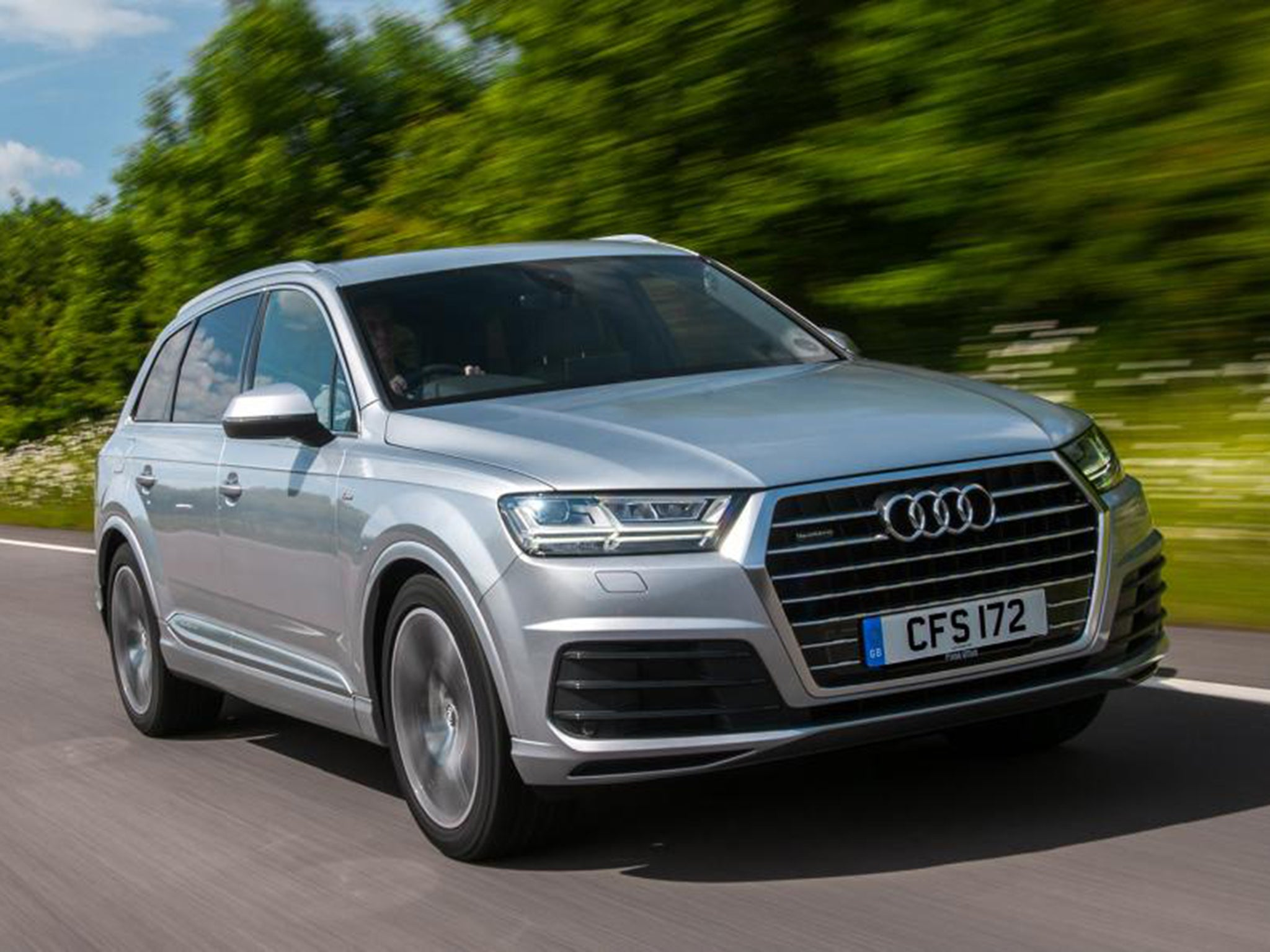 audi q7 3 0 tdi 218 car review mighty suv gets new entry level version road tests
