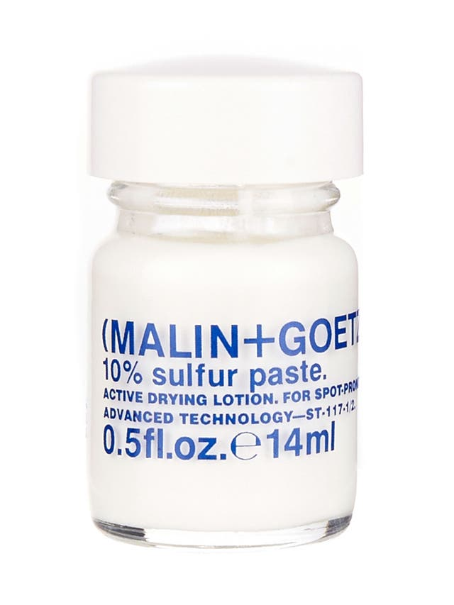 £16.50, Malin + Goetz, liberty.co.uk<br/><br/>Use a clean cotton bud to apply a dab of the thick paste at the bottom of this little jar before bed, and it'll dry out pimples while you sleep.