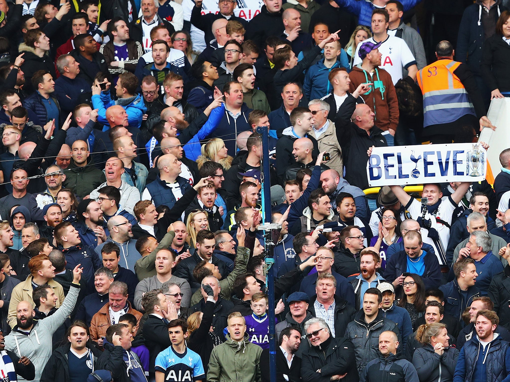 Tottenham supporters still believe they can win the title