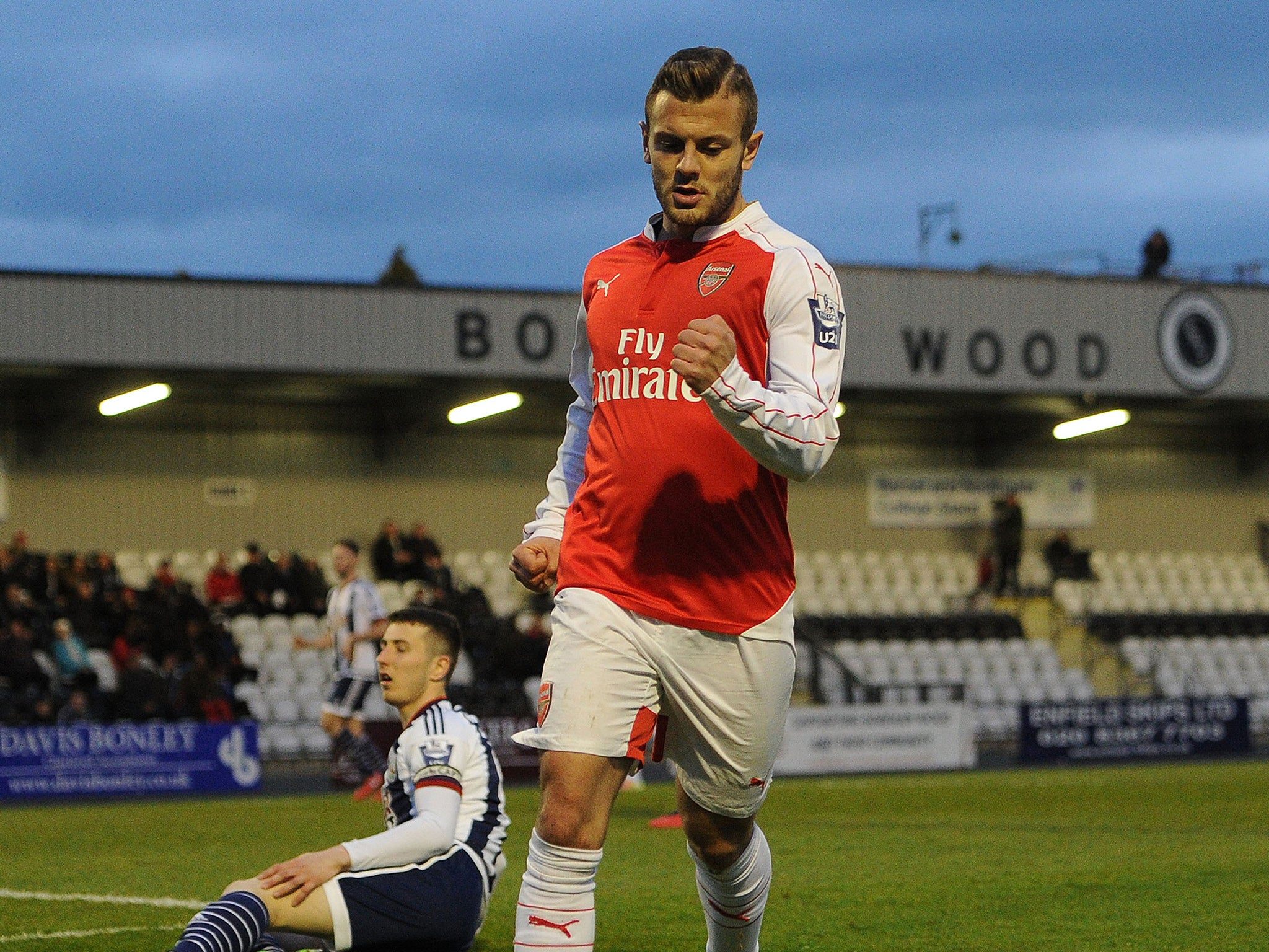 Jack Wilshere: Arsenal midfielder recovers from first-half knock to score for Under-21s