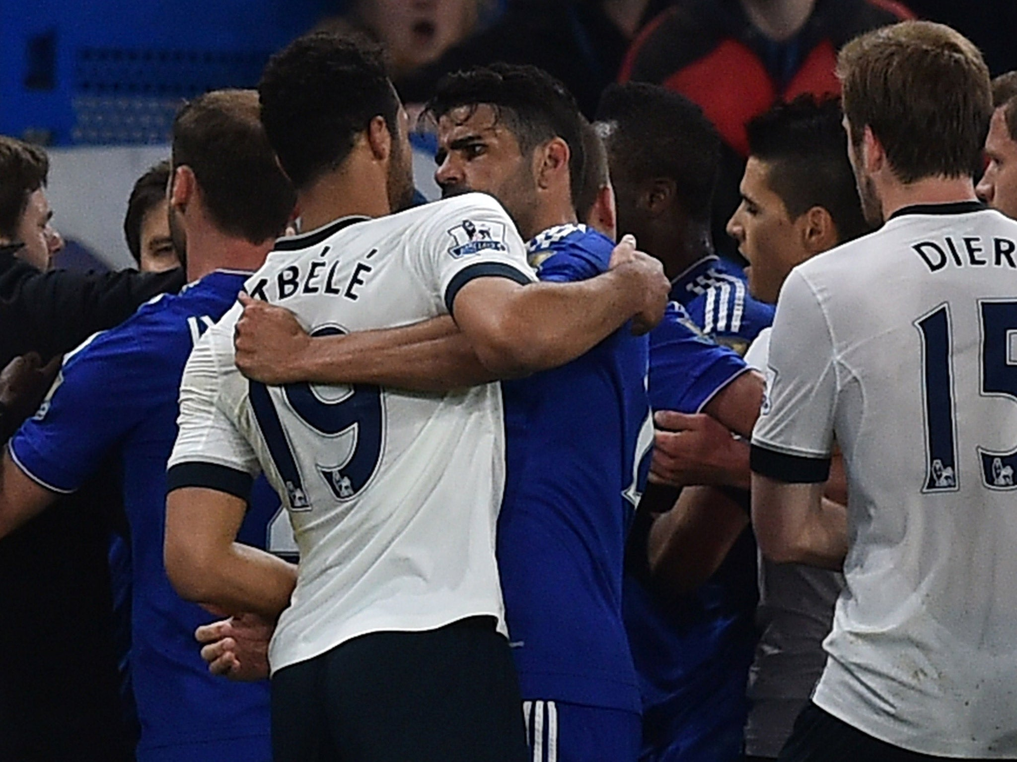 Chelsea vs Tottenham: Mousa Dembele faces likely ban for Diego Costa eye-gouge as Gary Cahill calls for leniency