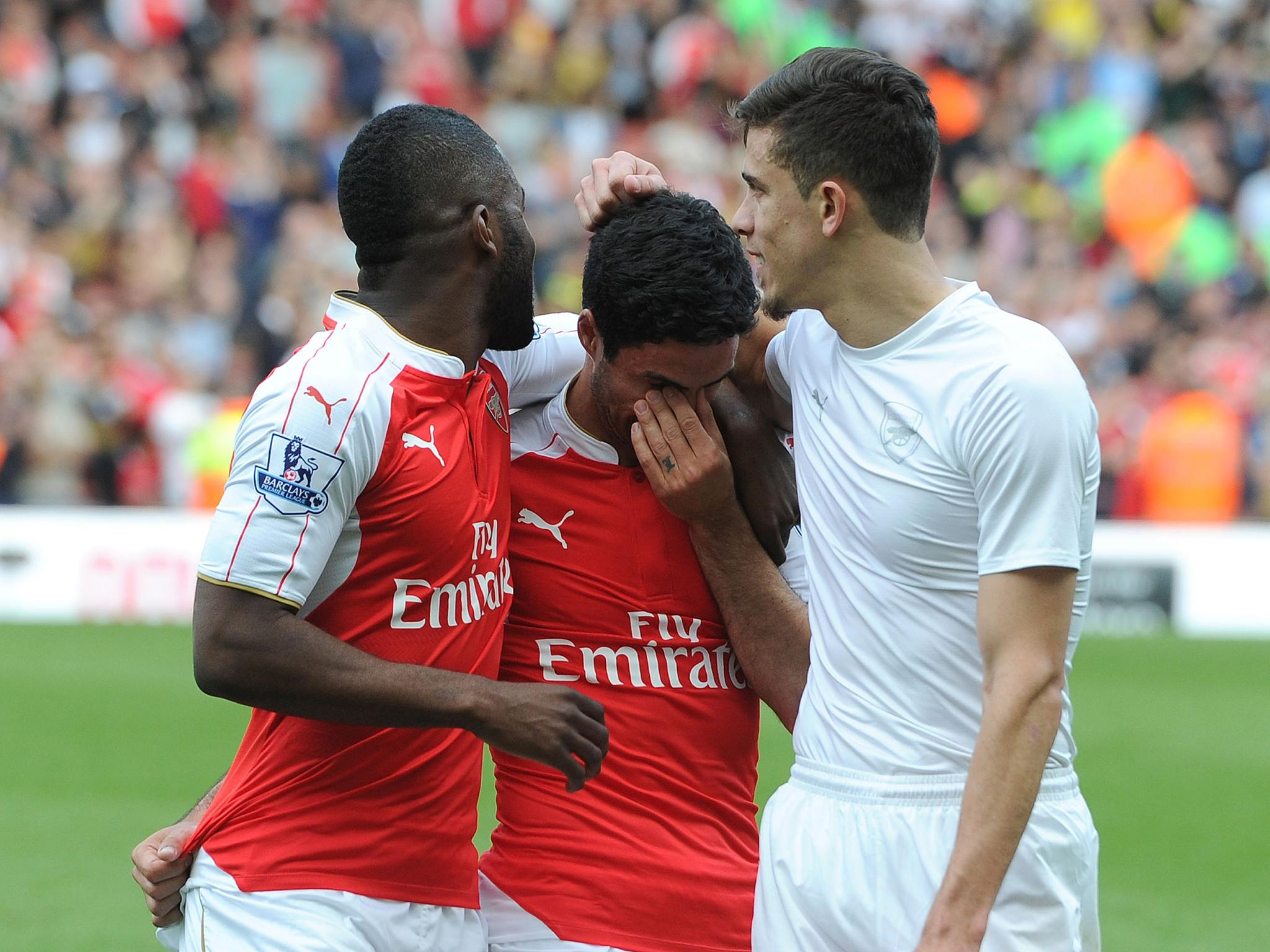 Arsenal transfer news: Mikel Arteta and Tomas Rosicky say farewell to the Emirates ahead of summer exits