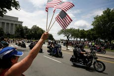 Rolling Thunder: Donald Trump tries to turn biker rally into campaign event
