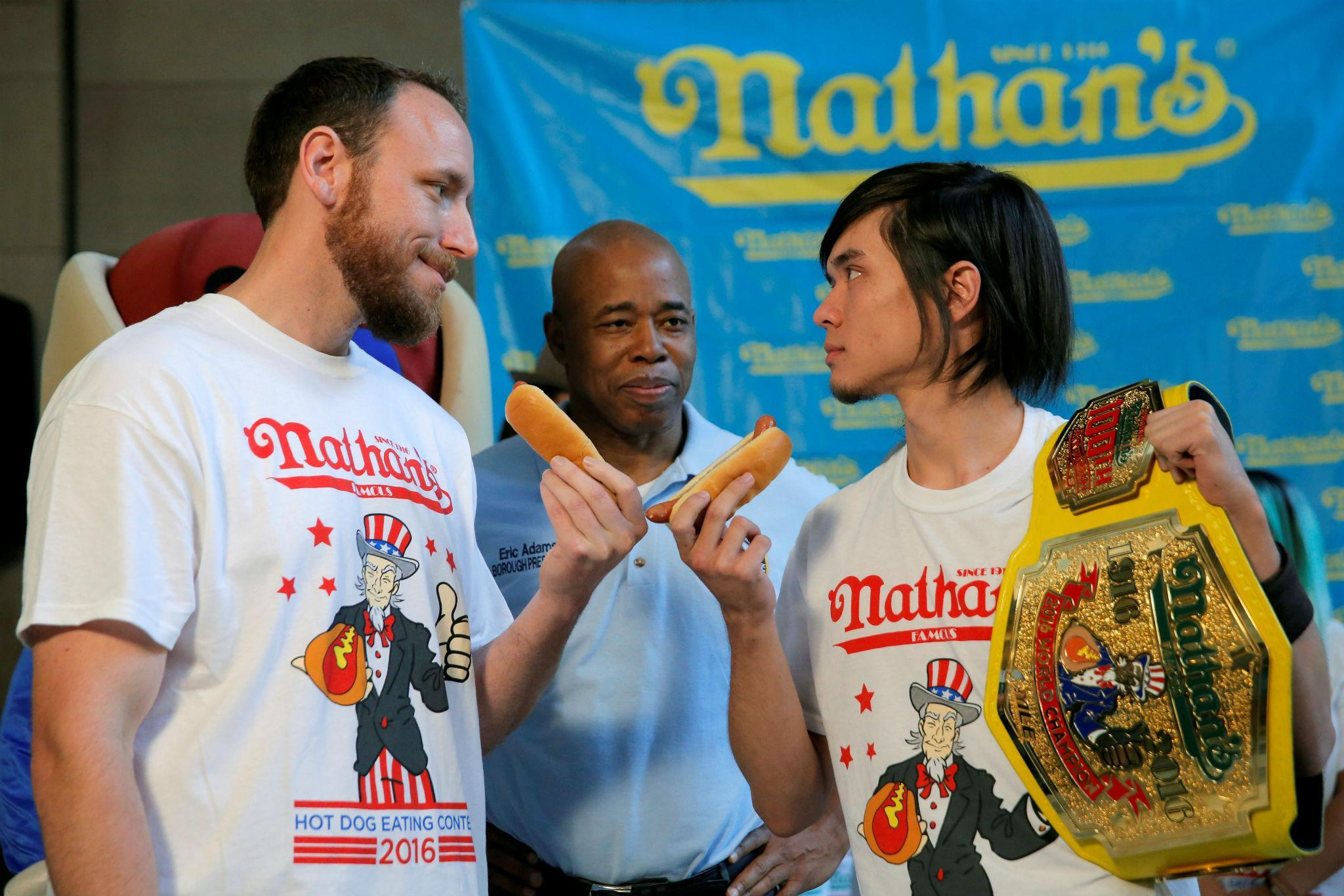 Nathan's hot dog eating contest celebrates a legendary anniversary