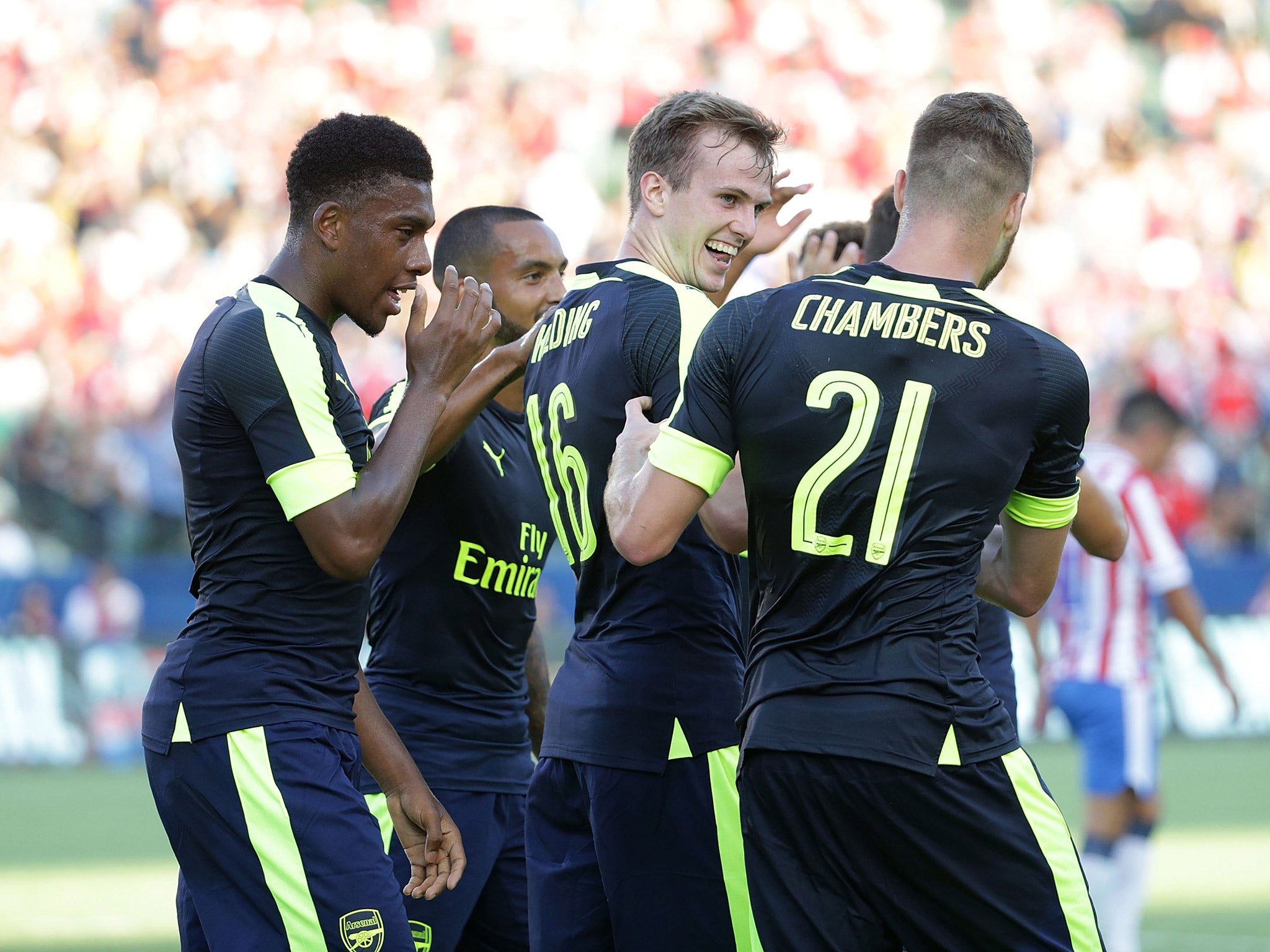 Arsenal vs Chivas match report: Rob Holding opens his Gunners account as Alex Oxlade-Chamberlain pushes case