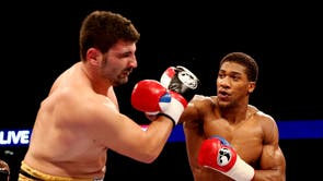 In his first fight since turning professional, 23-year-old Joshua floored Emanuele Leo in a vicious two minutes and 47 second rout.