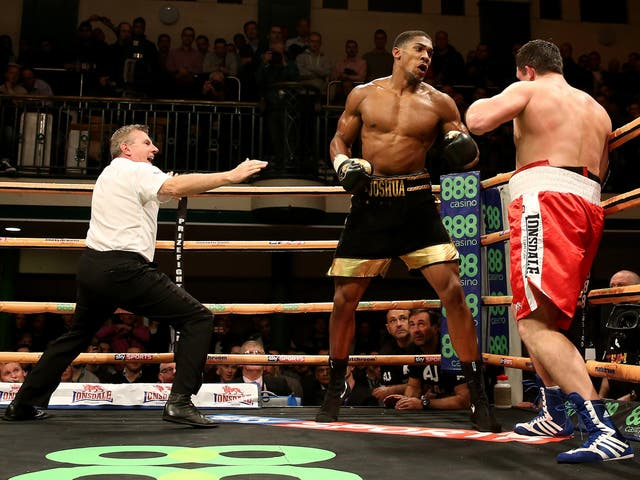 It was yet another second-round stoppage victory for Joshua, knocking out veteran Hrvoje Kisicek after a fiery flurry of punches on the ropes.