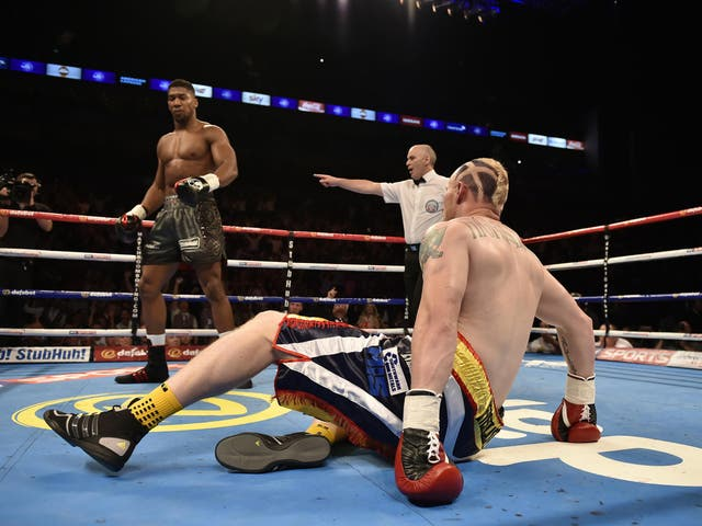 Joshua stopped Gary Cornish in 90 seconds to win the Commonwealth heavyweight title to the delight of The O2.