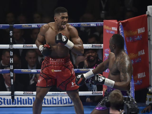Joshua battled to beat Dillian Whyte but eventually prevailed with a seventh round knockout, becoming the British heavyweight champion.