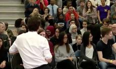 Justin Trudeau interrupts a woman to mansplain 'mankind'