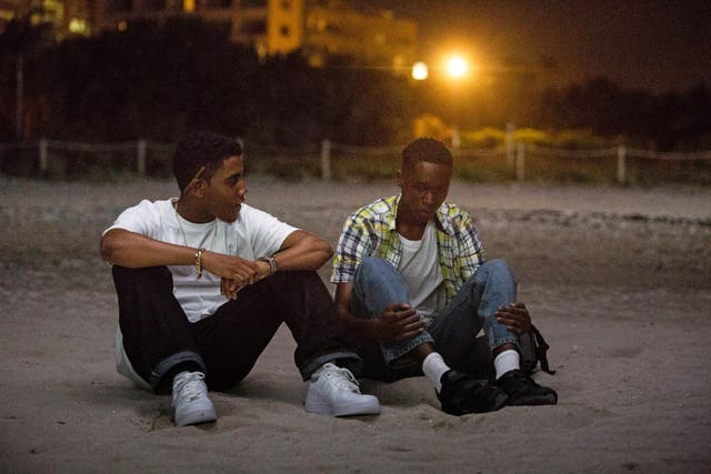 """Barry Jenkins' Oscar-winner is one of the most tender depictions of yearning in modern cinema. Its protagonist Chiron (played by Ashton Sanders here, at other points by Alex R. Hibbert and Trevante Rhodes) experiences his first sexual encounter with fellow student Kevin (Jharrel Jerome) on a quiet, isolated beach. Their fumbling may pay testament to the awkwardness of a teenager's first experiences, but Jenkins' approach also gives the moment a profound grace, and an acknowledgement of how it will come to shape Chiron's own view of himself.   """"It's the first time I filmed a sex scene. It's the first time these actors had performed a sex scene,"""" Jenkins told Entertainment Weekly of the scene. """"It's not gratuitous. It's very delicate in keeping with most of the film, but it kept me up at night. I really wanted to get the feelings of that first sort of sexual expression, and I wanted to get it right… but then, when we got to shoot it, it rolled off like butter."""""""