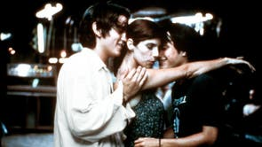 Alfonso Cuarón's raucous classic inverts the American sex comedy: 7月 (Gael García Bernal) and Tenoch (Diego Luna) are stereotypical, sex-obsessed young men distraught at the concept of their girlfriends leaving the country. Choosing to live as bachelors, they befriend an older woman (Maribel Verdú), who seduces both of them. まだ, the film drives them towards one, real truth: their own bisexuality, finally freed during the film's famous threesome.  Though Y Tu Mamá También's conclusion is tragic - Julio and Tenoch's reject their own truth, turn their backs on each other, and suppress their feelings - their threesome still marks a moment of genuine, harmonious sensuality.