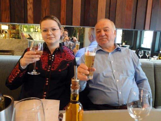 Former Russian spy Sergei Skripal, reg, and his daughter Yulia