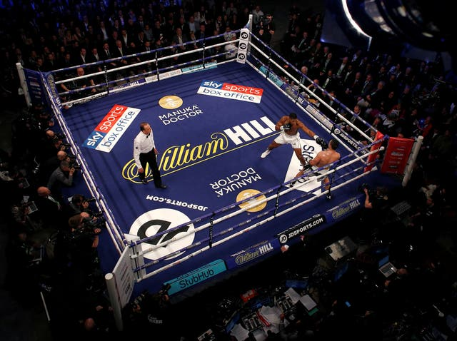 The first time Joshua has been taken the distance in his professional career. But he dominated throughout and added the WBO belt to his collection with ease.