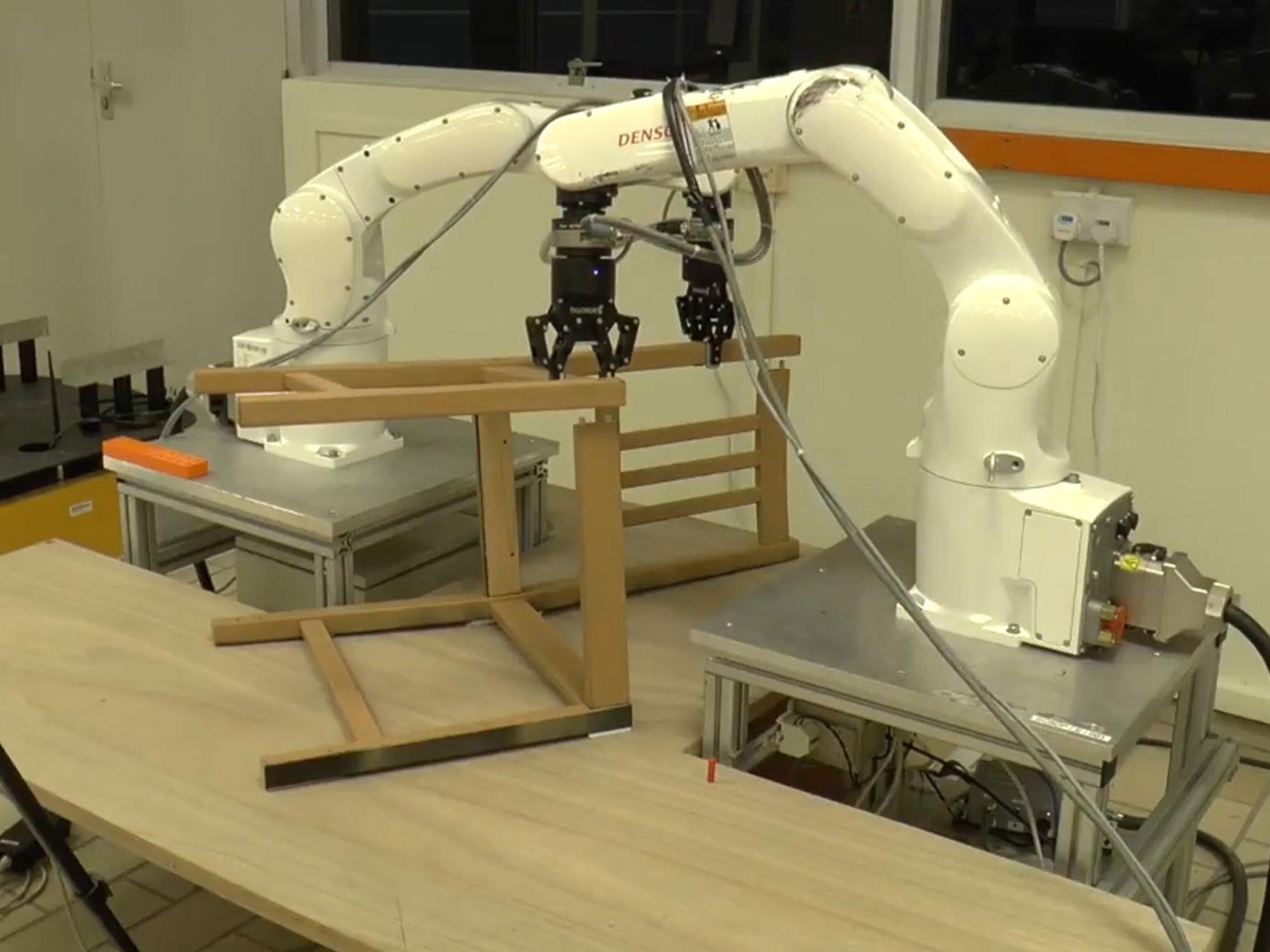 Robots build Ikea chair in under ten minutes