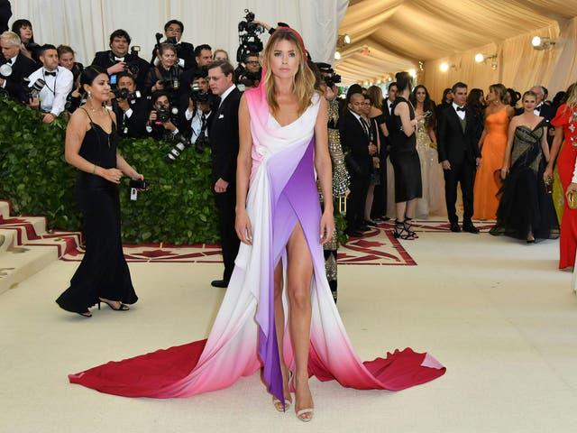 Doutzen Kroes wears a colourful Sies Marjan dress