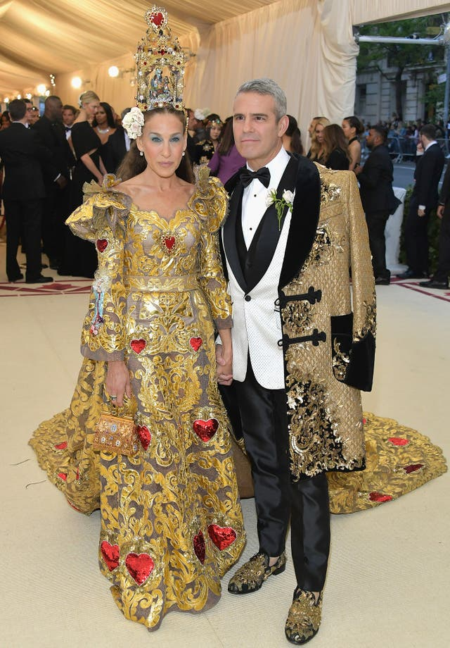 Sarah Jessica Parker and Andy Cohen wear Dolce & Gabbana